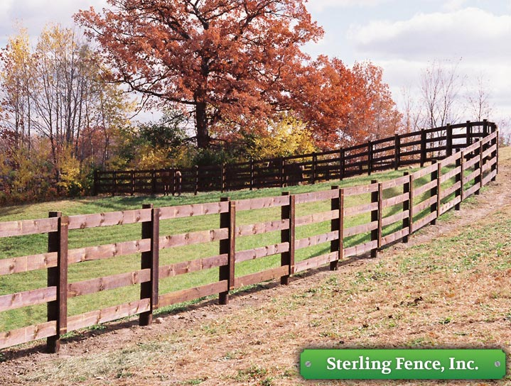 3 Rail Fence Design Horse pasture paddock fencing minneapolis fence company minnesota located workwithnaturefo