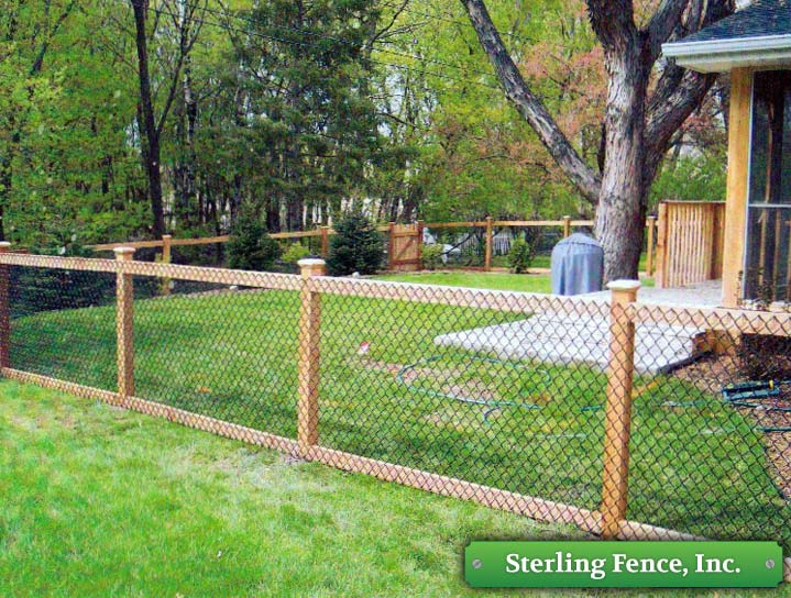 Chain Link Fence Wood Posts Images