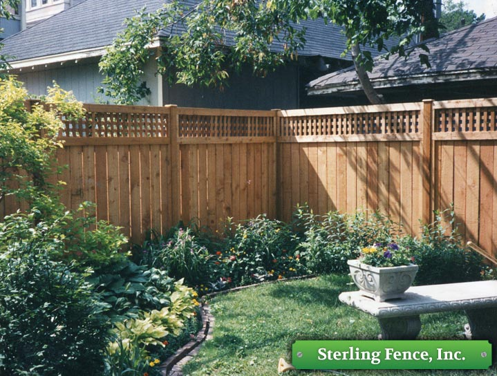 Wood Fences Wooden Fencing Lattice Top Fence